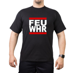 T-Shirt black, FEU WHR (Feuerwehr) red/white/red