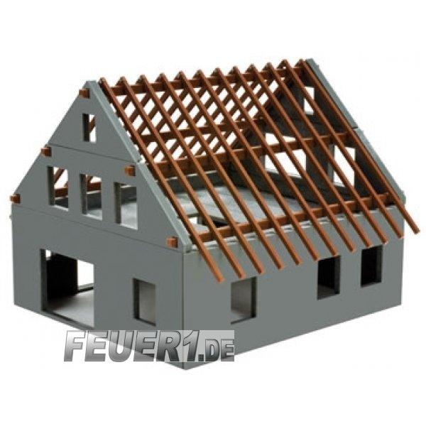 bausatz 1 87 bausatz fertighaus rohbau f r diorama. Black Bedroom Furniture Sets. Home Design Ideas