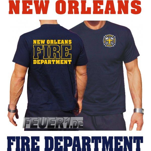 T Shirt Navy New Orleans Fire Dept Louisiana 34 90