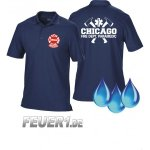 Funktions-Poloshirt navy, Chicago Fire Department mit...