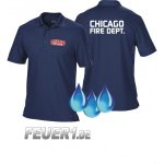 Funktions-Poloshirt navy, Chicago Fire Dept., Brustdruck...