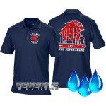 Funktions-Poloshirt navy, Chicago Fire Dept.-Skyline mit...