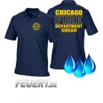 Funktions-Poloshirt navy, Chicago Fire Dept. Squad, gelbe...