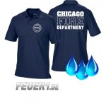 Funktions-Poloshirt navy, Chicago Fire Dept., weiße...