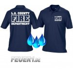 Funktions-Poloshirt navy,  L.A. County Fire Department in...