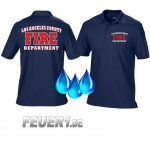 Funktions-Poloshirt navy,  Los Angeles County Fire...