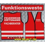 Funktionsweste rot, silber-reflekti. Text