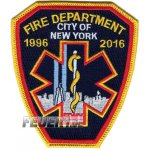 Jubil�ums-Abzeichen: FDNY-EMS 1996-2016  (100 %...