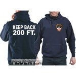 Kapuzensweat navy,  KEEP BACK 200 FT. mit Emblem NYC Fire...