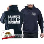 Kapuzensweat navy, L.A.County Fire Department in weiss