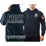 Kapuzensweat navy, New York Fire Dept., PARAMEDIC (outline)