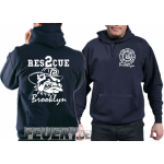 Kapuzensweat navy, Rescue 2 Brooklyn with fighting...