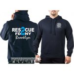 Kapuzensweat navy, Rescue2 (blue) Brooklyn