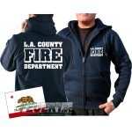 Kapuzensweatjacke navy, Los Angeles County Fire Department