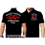 Poloshirt black, DRAGON FIGHTERS Chainatown, NYC Eng-9 Lad-6