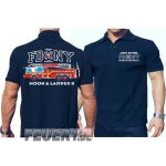 Poloshirt navy, FDNY Ladder Truck 8 - Ghost Busters, farbig