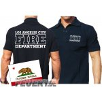 Poloshirt navy, Los Angeles City Fire Department