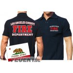 Poloshirt navy, Los Angeles County Fire Department in...