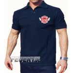 Poloshirt navy, Seattle Fire Dept. Brustdruck zweifarbig