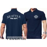 Poloshirt navy, Seattle Fire Dept. - work -