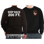 Sweat black, KEEP BACK 200 FT. mit Emblem NYC Fire Dept.