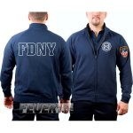 Sweatjacke navy, New York City Fire Dept.- 343, (outline)...