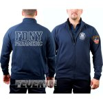 Sweatjacke  navy, New York Fire Dept., PARAMEDIC (outline)