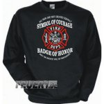 Sweatshirt black, Symbol of Courage - Badge of Honor in...