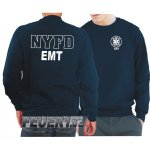 Sweatshirt navy, NYFD EMT (Emergency Medical Technician)