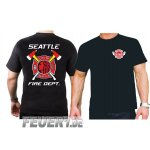 T-Shirt black, Seattle Fire Dept. - mehrfarbig -