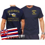 T-Shirt navy, AIR SEA RESCUE Honolulu.(Hawaii) (weiss+gelb)