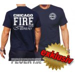 T-Shirt navy, Chicago Fire Dept., Illinois