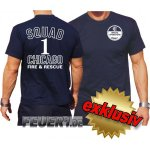 T-Shirt navy, Chicago Fire Dept., Squad 1 - Special...