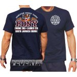 T-Shirt navy, FDNY E303/L126 Princeton St. Tigers South Jamaica Bronx L