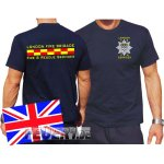 T-Shirt navy, London Fire Brigade - Fire & Rescue Services 5XL