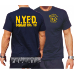 T-Shirt navy: New Yorker Feuerwehr Squad 18 Manhattan