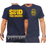 T-Shirt navy, New Yorker Feuerwehr Squad 61 The Bronx
