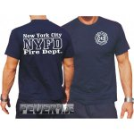T-Shirt, navy: NYFD (work), Gr. L