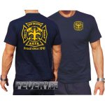 "T-Shirt navy, New Orleans Fire Dept.""Proud since..."