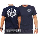 T-Shirt navy, Seattle Fire Dept. Space Needle & Axes