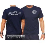 T-Shirt navy, Seattle Fire Dept. - work -