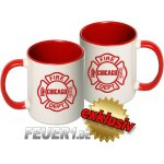 Tasse: Chicago Fire Dept. Emblem, two-tone-coffee-cup, red