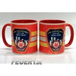 Tasse bicolor New York City Fire Department Standard-Emblem