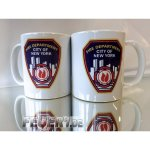 Tasse white New York City Fire Department Standard-Emblem