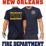 T-Shirt navy, New Orleans Fire Dept. Louisiana