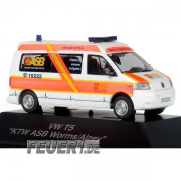 Modell 1:87 VW T5 KTW ASB Worms