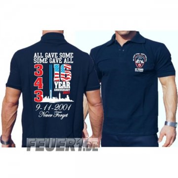 Poloshirt navy: 9/11 WTC 16 YEARS - NEVER FORGET (2017 edition)