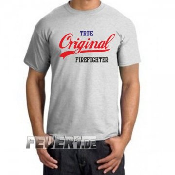 T-Shirt ash, TRUE Original FIREFIGHTER