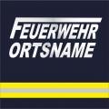 T-Shirt FEUERWEHR Ortsname kursiv