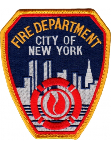 Abzeichen: Fire Dept.New York City 11,5 x 10 cm